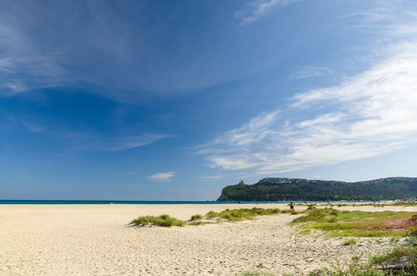 Sardegna, Cagliari, spiaggia del Poetto