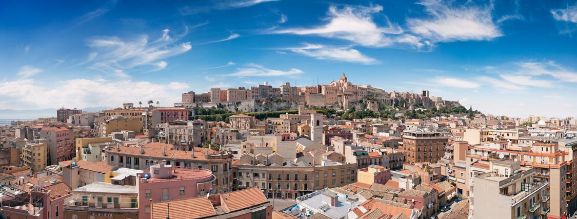 Panoramasicht auf die Stadt Cagliari