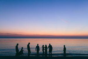 Sonnenuntergang am Strand auf Sardinien
