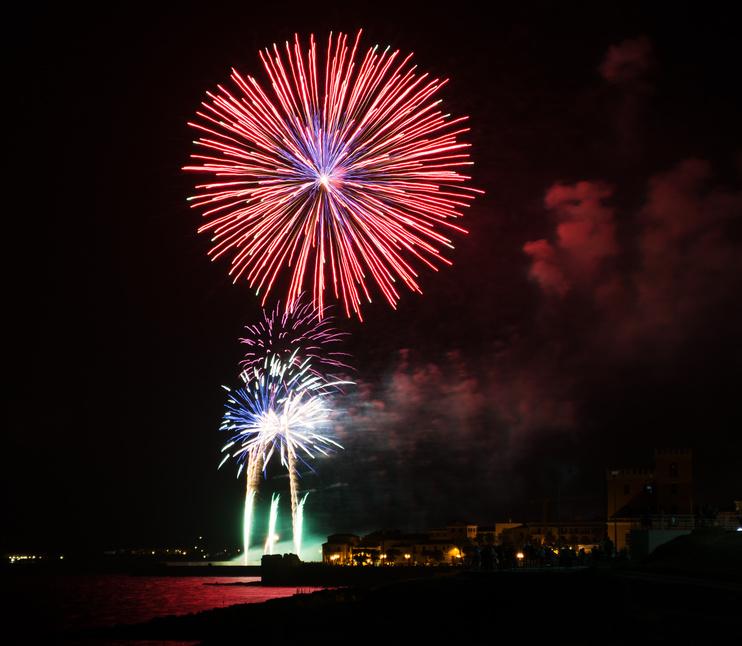 Feuerwerk auf Sardinien